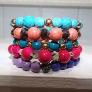 New! Erimish Pez Set of 5 Beaded Bracelets